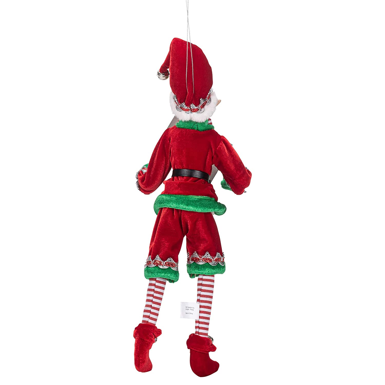 Buy Raz Imports Posable Christmas Elf 16 Tall Red And Green Velvet Outfit With Santa Book 2019 Reindeer Games Holiday Collection Online At Low Prices In India Amazon In