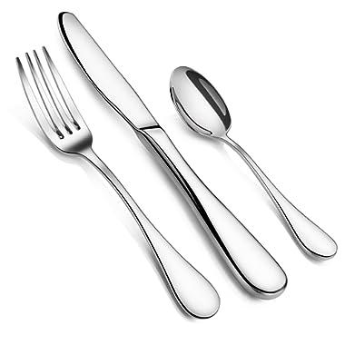 Artaste 59380 Rain 18/10 Stainless Steel Flatware 36-Piece set, Service of 12