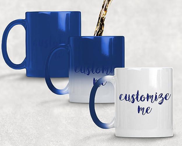 amazon com custom magic mugs amazing new heat sensitive color