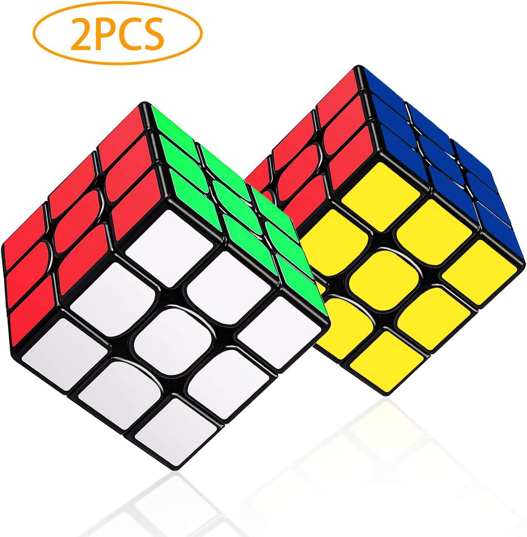 LOVEXIU Cubo Magico 3x3x3, Cubo 3x3 2 PCS, Speed Cubo 3x3, Speed Cube Profesional de Rápido Suave Durable y Fácil Giro para el Juego de Entrenamiento Cerebral Adultos y niños: Amazon.es: Juguetes