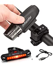5 LED Mountain Bike Bicycle Cycling Front and Rear Back Tail Light Waterproof UK