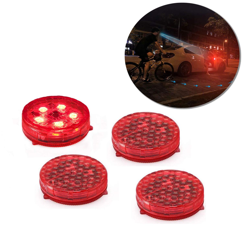 Rouge 4PCS HINATAA Voyant de porte,LED Etanche Voiture de Porte Feu davertissement Gate Anticollision Avertisseur Lumineux,R/éfl/échissant Avertissement S/écurit/é Routi/ère