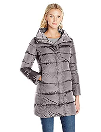 fe1961a993a Amazon.com: Add Down Women's Down Long Coat, Titanium, 38: Clothing