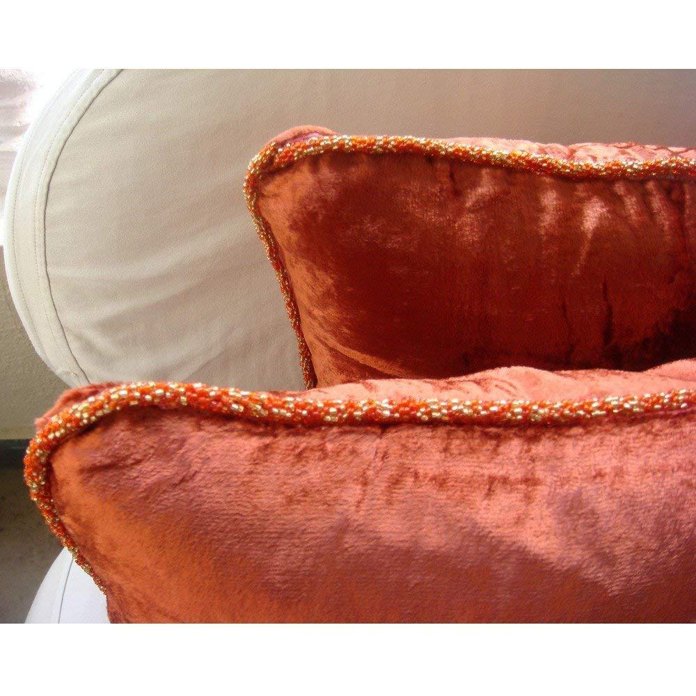 Solid Color Bead Cord Pillow Shams Square Velvet Pillow Sham The HomeCentric Handmade Royal Peacock Green Pillow Shams 24x24 Pillow Shams Contemporary Pillow Shams Royal Peacock Green Shimmer 24x24 Pillow Shams THC476RoyalPeacockGreenShimmer24IN