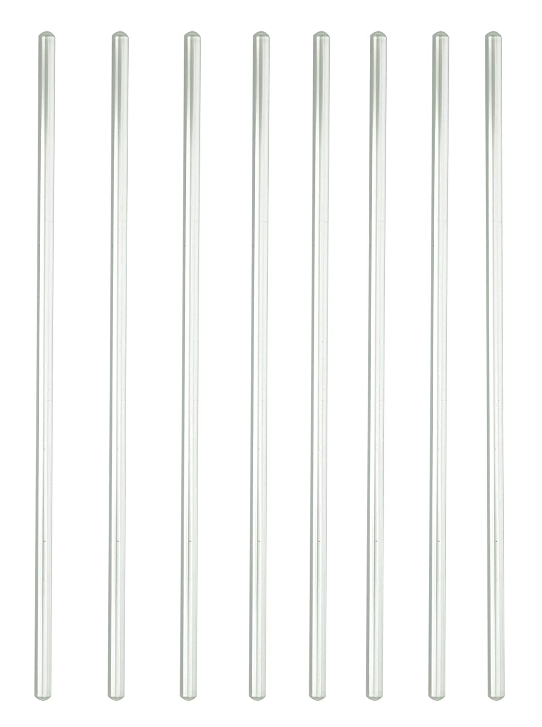 Burry Life Science Stick 12' Length Glass Stir Rod with Both Ends Round 8pcs/pk Lab
