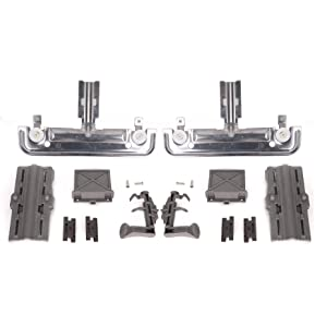 W10712395 W10350375 Durable Dishwasher rack Adjuster Kit with instructions for Kenmore & Whirlpool & Kitchen Aid - Replaces 3516330 AP5957560 EAP10065979 PS10065979 PD00007293