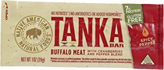 product image for Bison Pemmican Meat Bars with Buffalo & Cranberries by Tanka, Gluten Free, Beef Jerky Alternative, Spicy Pepper, 1 Oz, Pack of 6