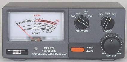 MFJ-870 SWR meter, 1 8-60MHz, 30/300/3000W