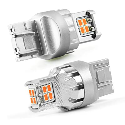 JDM ASTAR High Performance Super Bright 1:1 Design 3020 Chips 7440 7441 7443 7444 992 Amber LED Bulbs: Automotive