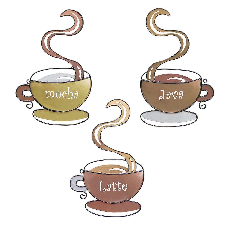 Amazon Coffee House Cup Mug Latte Java Mocha Metal Wall Art