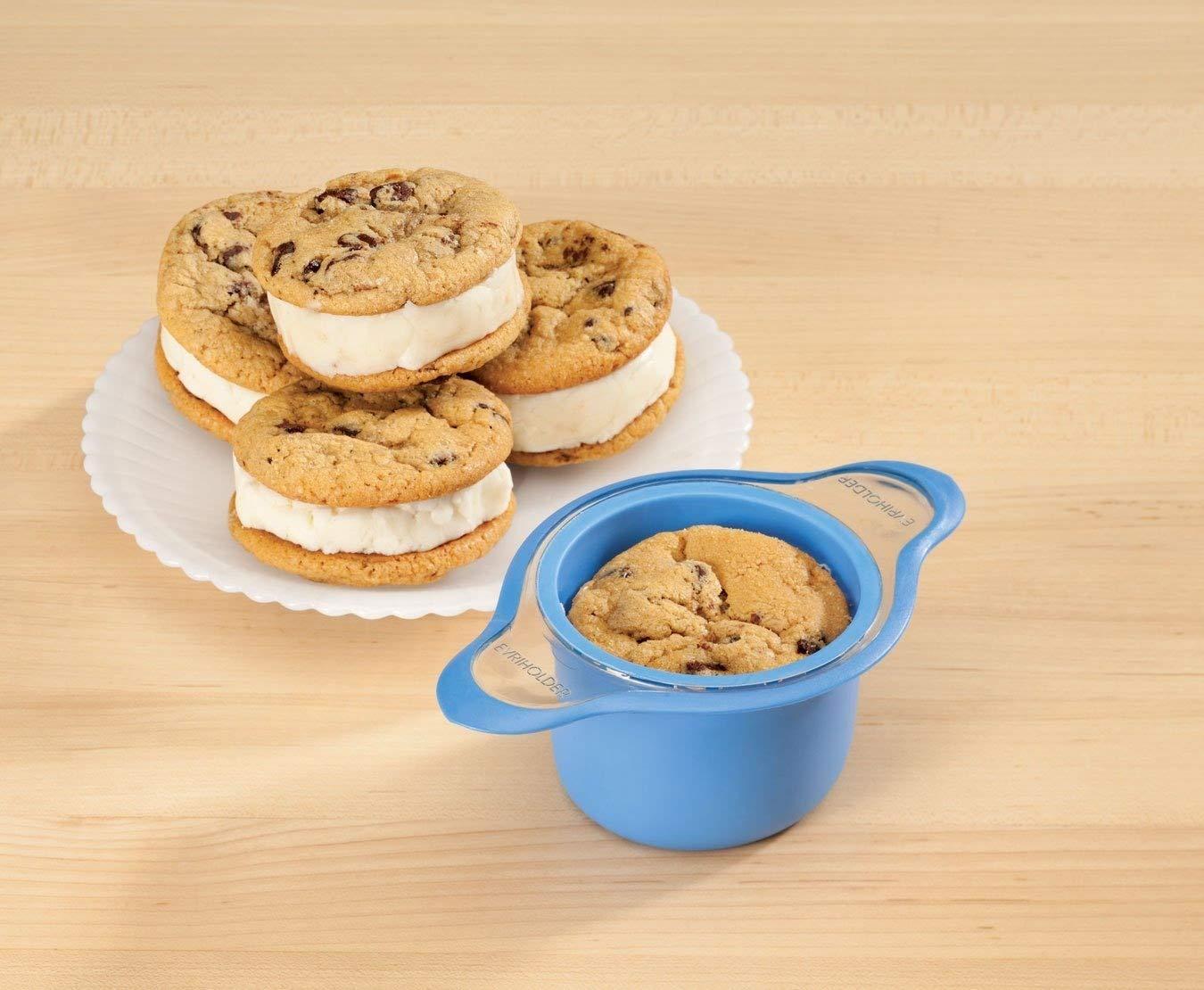 Amazon.com | Evriholder iScream Silicone Ice Cream Slider Sandwich Maker (Red): Bowls