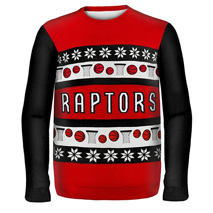 f85949f179d TORONTO RAPTORS ONE TOO MANY UGLY SWEATER at Amazon Men's Clothing store: