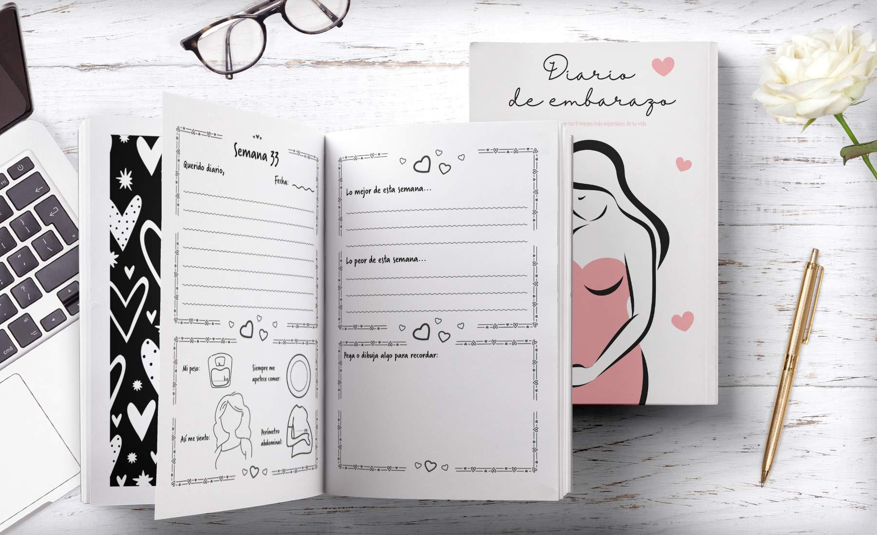 Diario de Embarazo: Agenda embarazo - Para registrar los 9 ...