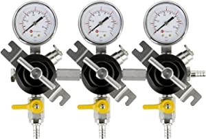 Kegco YH-76S-3 Secondary Regulator, Triple Gauge