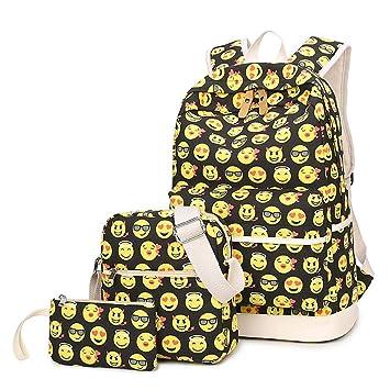 Backpack,Mochilas Escolares,Mujer Mochila Escolar,Mochila de viaje,Lona Bolsa Casual Para Chicas Bolsa De Hombro Mensajero Billetera de Beatie: Amazon.es: ...