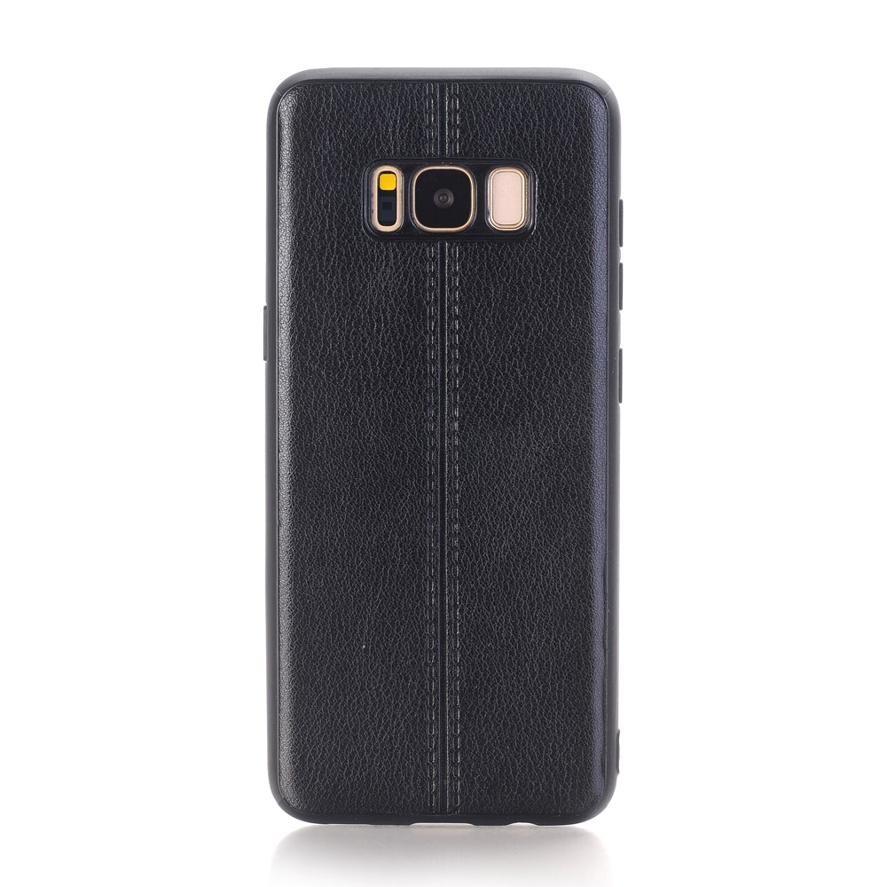 Samsung Galaxy S8 Plus Case Speck Black, PU Leather Lightweight Slim Luxury Stylish Classic Style Fit Retro Ultra Thin Full Body Protective Cover Case for 6.2inch Samsung Galaxy S8 Plus- Black