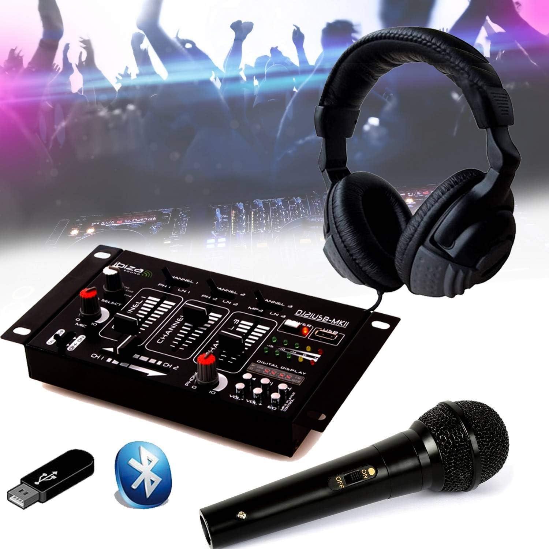 Kit Mesa de mezclas DJ21 USB Bluetooth + auricular Sono DJ + Micro ...