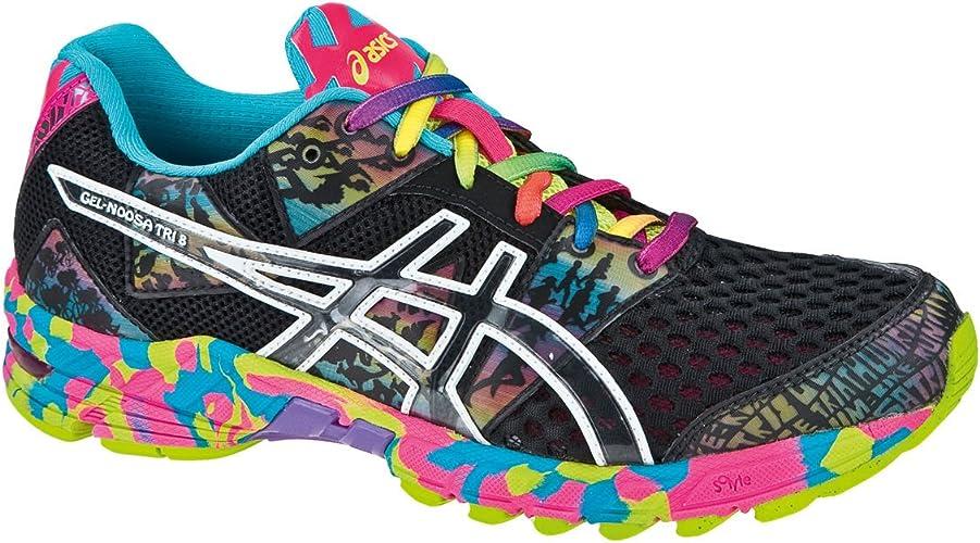 Asics - Zapatillas de Running de poliéster Mujer, Negro (Negro), 43.5 EU: Amazon.es: Zapatos y complementos