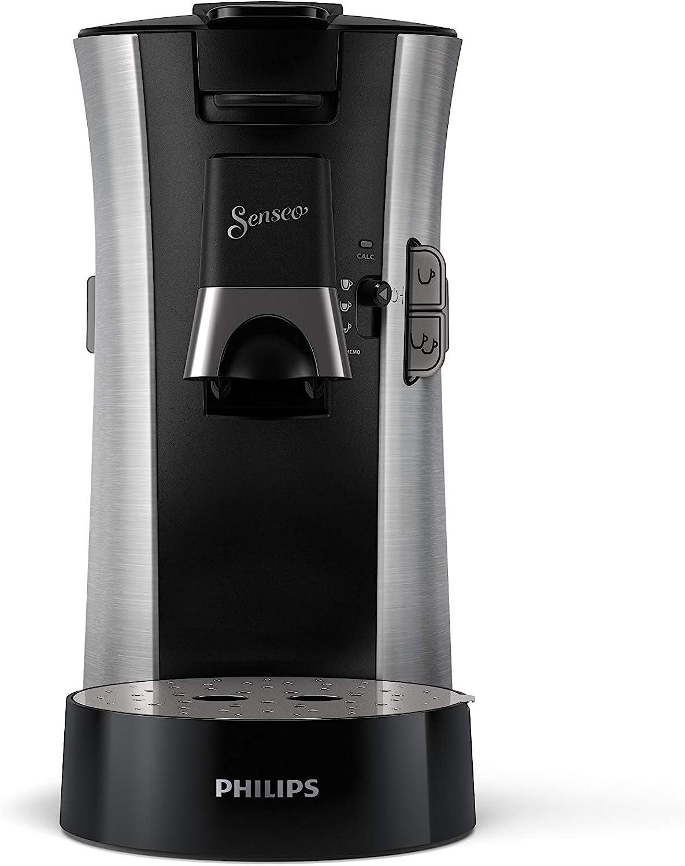 Philips CSA250/11 Senseo select - Cafetera de monodosis (modelo Premium, acero cepillado)