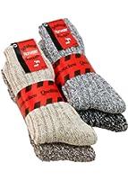 4 Paar Wollsocken Schafwollsocken Norwegersocken Wintersocken dick warm und weich bis Gr. 50