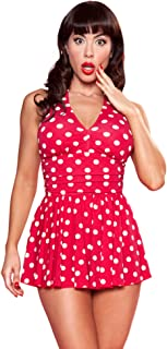 product image for Esther Williams Swimwear Marilyn Halter Dress Vintage Swimsuit
