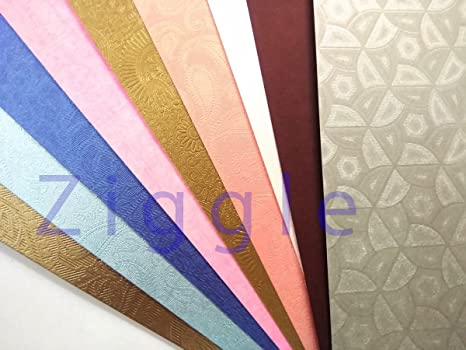 Ziggle A4 Size Thick Beautiful Pattern Design Printed Papers For Art