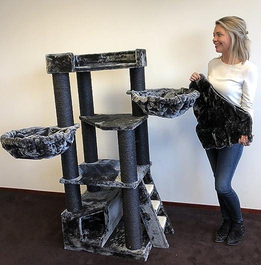 Rascador para gatos grandes Corner Coon Blackline Gris arbol xxl maine coon gato gigante sisal muebles sofa casa escalador casita torre Árboles rascadores cama cueva repuesto medianos: Amazon.es: Productos para mascotas
