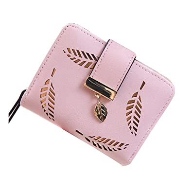 LOKOUO Womens coin purses holders wallet short carteras ApricotOne Size
