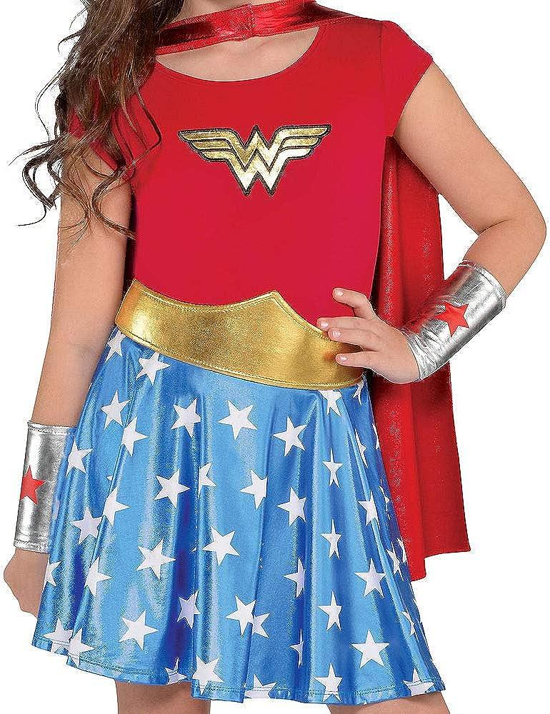 New Baby Girl Wonder Woman Sizes 0 Thru 24 M One Piece W Skirt
