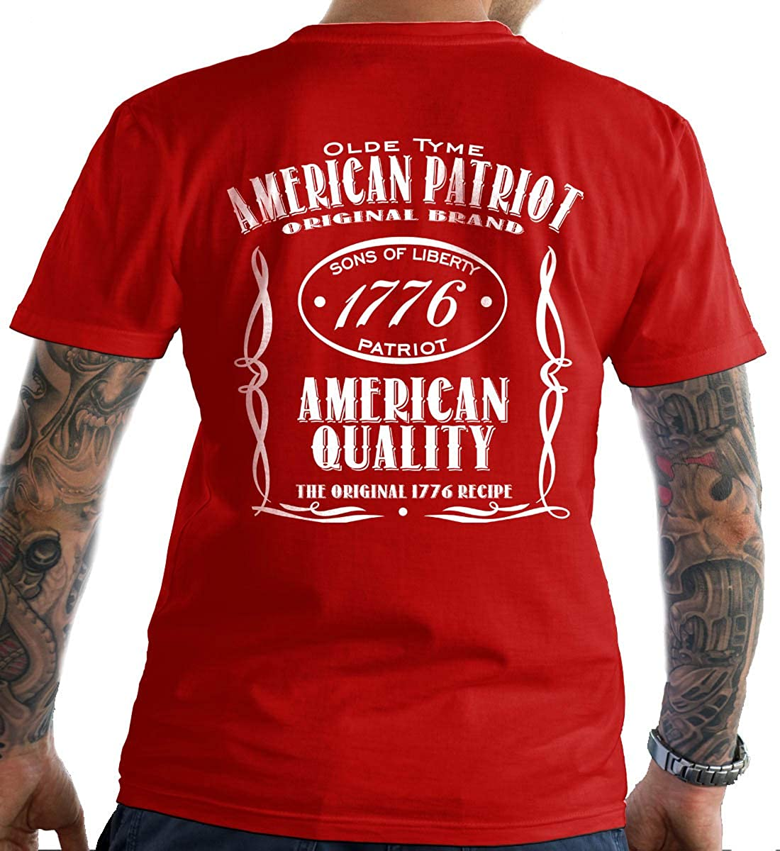 58305f234 Amazon.com: Sons Of Liberty Old Time American Patriot. T-Shirt. Made in  USA: Clothing