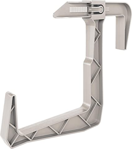 Amazon Com Dunes Clamp On Universal Fit Adjustable Planter Box Rail Brackets For Balcony Fence For X X Railings 2 Pack Light Grey Home Kitchen