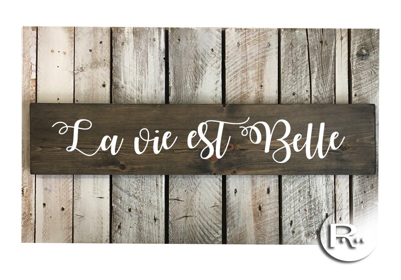 Amazon Com La Vie Est Belle French Wood Sign 34 X7