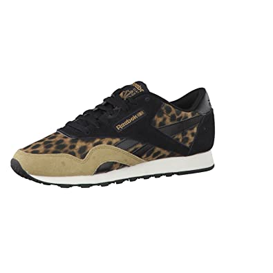 f5fcef9c3cb1 Reebok CL NYLON Wild V62924 Women s Sneaker Brown Size  6.5  Amazon.co.uk   Shoes   Bags