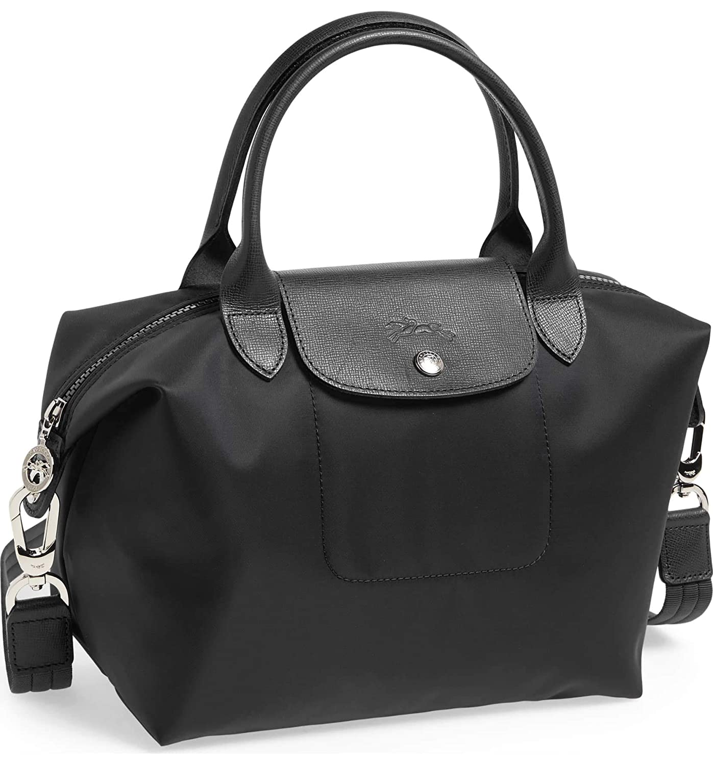 0a6c06fd6a Longchamp 'Le Pliage Neo' Nylon Top Handle Tote Shoulder Bag, Black:  Handbags: Amazon.com