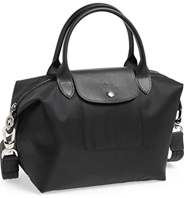 8cef631f37 Longchamp 'Le Pliage Neo' Nylon Top Handle Tote Shoulder Bag, Black:  Handbags: Amazon.com
