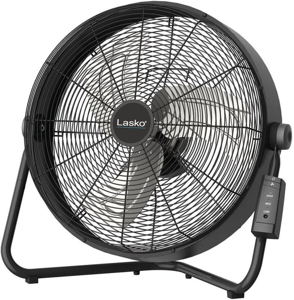 Lasko 20 High Velocity Fan with Remote Control, Black