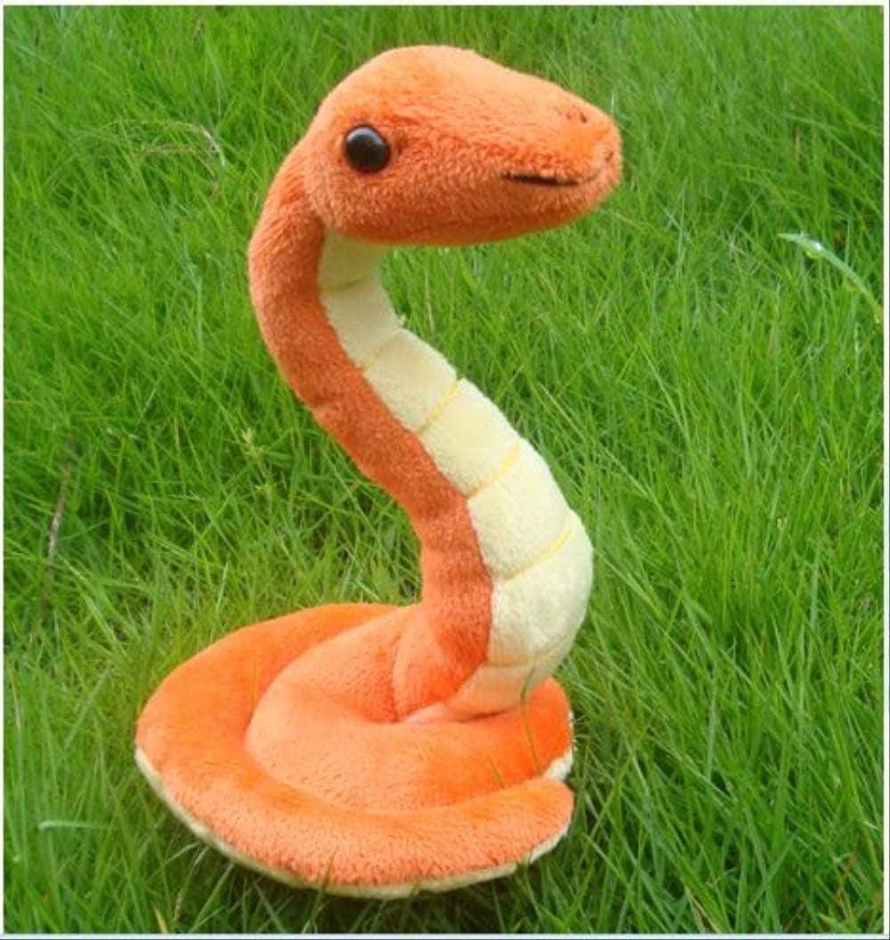 NC88 Juguete de Felpa de Serpiente 18cm Color Chocolate simulación Animal muñeca decoración del hogar Parodia Mascotas para niños