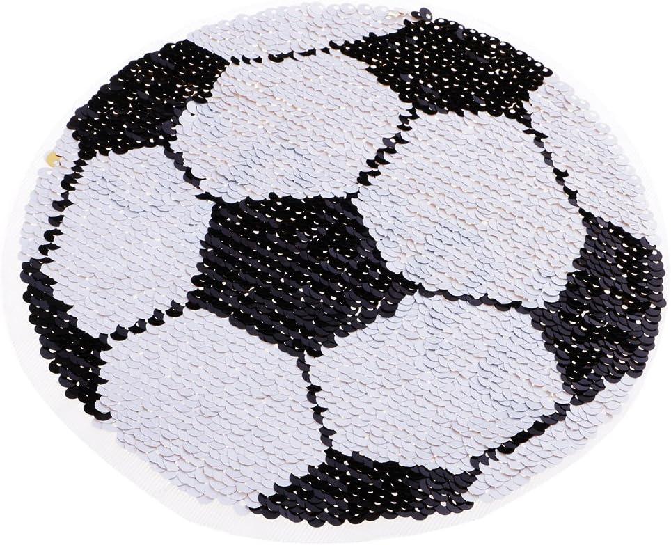 MagiDeal Parche DIY Bordado Forma Fútbol Coser Lentejuelas Parche ...