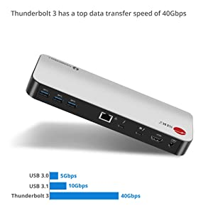 SIIG Thunderbolt 3 (Certified) Dual 4K Monitor Docking Station - 60W Laptop Charging For Windows PC & MacBook Pro [With Thunderbolt 3 Logo Port] - 5 USB 3.0 Ports, HDMI 2.0 Port, 1 Ethernet Port, More (Color: Thunderbolt 3 Dual 4K 60Hz Display W/ PD Charging)