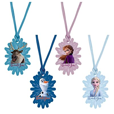 "Amscan Thank You, Frozen 2 Snowflake-Shaped Birthday Tags, 2"" x 3"", 8 Ct. (262087),Multicolor: Toys & Games"