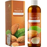 Pure Sweet Almond Oil for Hair Growth Healthy Skin and Nourished Nails Anti Aging Beauty Moisturizer and Massage Carrier Oil with Antioxidant Vitamin E Reduce Dark Circles for a Bright Youthful Look