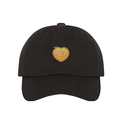 Amazon.com  Prfcto Lifestyle Peach Dad hat - Black baseball cap- Unisex   Clothing 848e97290fff