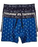 Original Penguin Men's Cotton Stretch Boxer Brief Underwear, Multipack, LTGYH/SKCPTE/Cobalt-3 Pack, Large