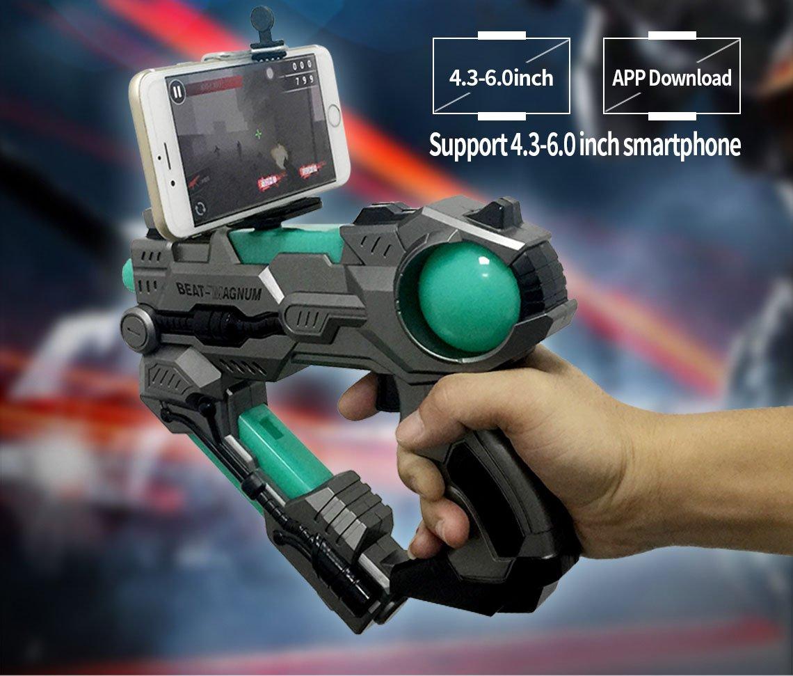 056624475d89 Paradise Treasures Augmented Reality AR Space Gun-15 Virtual Reality Gaming  Gun for Cell Phone 360° Augmented Reality AR Bluetooth Game Controller for  iOS ...