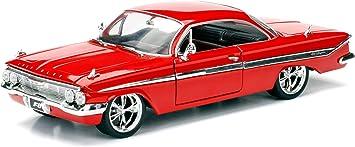 Jada Toys Fast Furious 8 Dom S 1961 Chevy Impala Auto Tuning Modell Im Maßstab 1 24 Zu öffnende Türen Motorhaube Und Kofferraum Freilauf Rot Amazon De Spielzeug