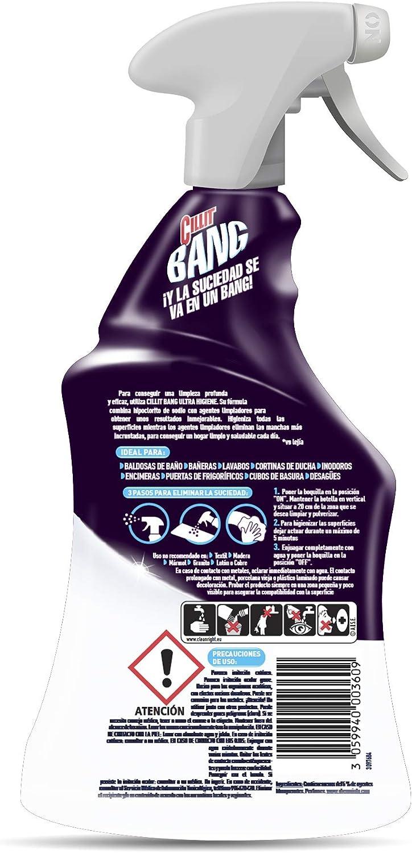 Cillit Bang Higiene - Limpiador higienizante en spray, pack de 4 x 750 ml: Amazon.es: Salud y cuidado personal