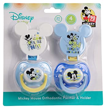 Amazon.com: Disney Mickey Mouse - Juego de 2 chupetes y 2 ...