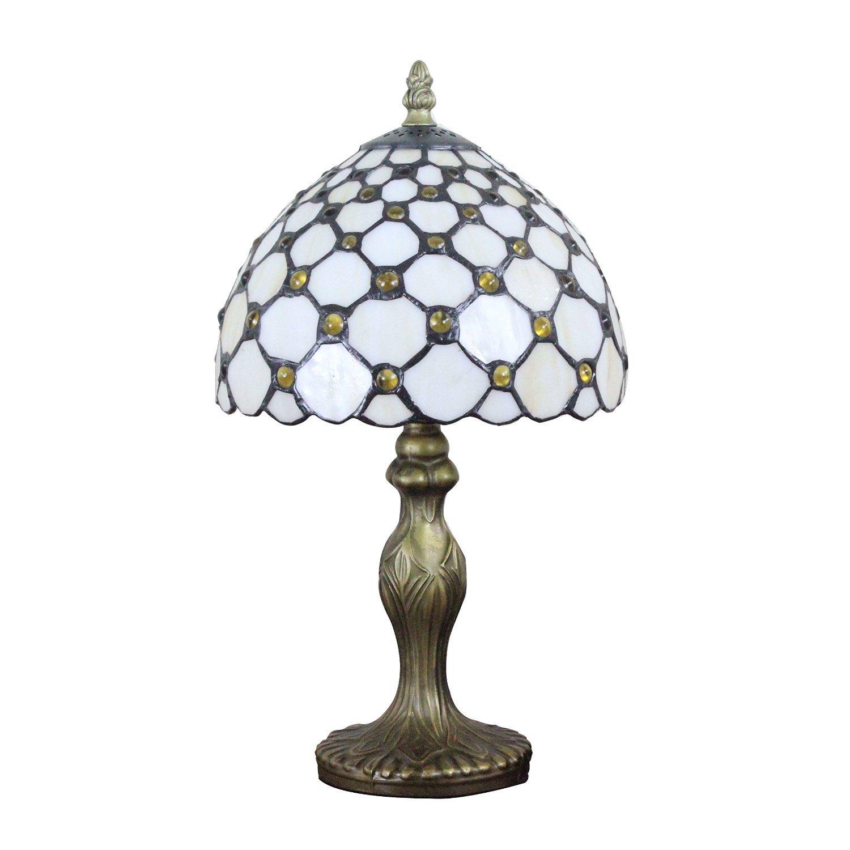 aifude 8 zoll retro minimalist tiffany lampen wei es glas mit