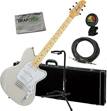 Ibanez tm1730mvwh Taman Prestige guitarra eléctrica fabricado en Japón W/caso Cable, soporte, sintonizador, y paño de geartree: Amazon.es: Instrumentos ...