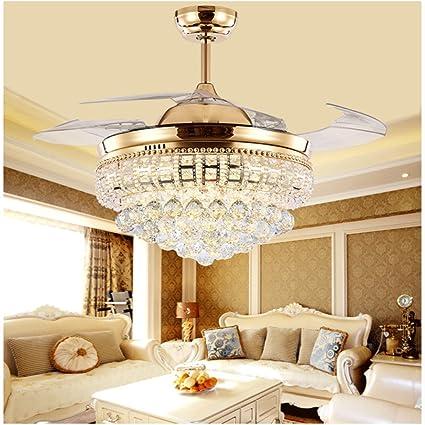 Huston Fan 42 Inch Crystal Chandelier Ceiling Light Modern ...